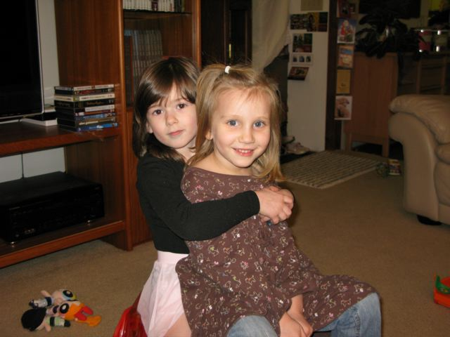 [Colette and Charlotte, Christmas 2009]